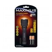 Maximus Duracell Led  IP44 Black75Lumens/Απόσταση 94m/ 21h