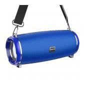 Wireless Speaker Hoco HC2 Xpress TWS Blue V5.0 2X5W, 2400mAh, IPX5, Microphone, FM, USB & AUX Port, Micro SD and LED Light