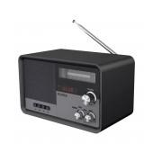 Portable FM Radio N'oveen PR950 3.7V 2200mAh Bluetooth with USB Port,MMC,Aux-in, Mains,Battery Supply Black