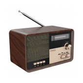 Portable FM Radio N'oveen PR951 3.7V 2200mAh with Bluetooth USB Port/MMC/Aux-in and Mains/Battery Supply Brown