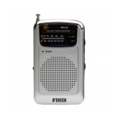 Portable FM Radio N'oveen PR151 AM/FM Battery Supply 2 x 1,5V AAA Silver with Hands Free 3.5mm