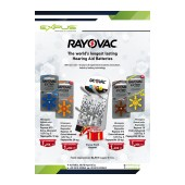 Rayovac Table Stand for Hearing Aid Batteries with Battery Sets: 20 x No10, 20 x No 13, 20 x No 312, 10 x No 675