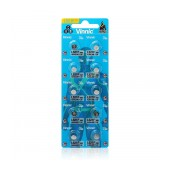 Buttoncell Vinnic L651F AG1 LR60 Pcs. 10 with Perferated Packaging 1.5V