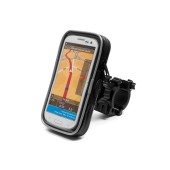 Bicycle Mount with Waterproof Case moto eXtreme for Smartphone Rotable with Cable Output 148x80x20