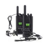 Walkie Talkie Cobra PU500 Pro Black Coverage 8 km PTT, VOX, Hands-Free