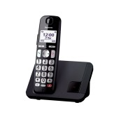 Panasonic KX-TGE250JTB Cordless Telephone with Call Blocking and Silent Operation Scheduling Black