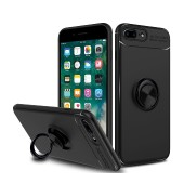Case Ancus AutoFocus Shock Proof με Ring Holder for Apple iPhone 7 Plus / iPhone 8 Plus Black