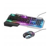 Mechanical Keyboard and Mouse Wired Hoco GM12 Light and Shadow with RGB Breathing Light, Full Size, 104 Keys Black