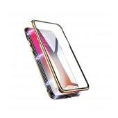 Case Ancus 360 Full Cover Magnetic Metal for Apple iPhone 8 Plus / iPhone 7 Plus Gold